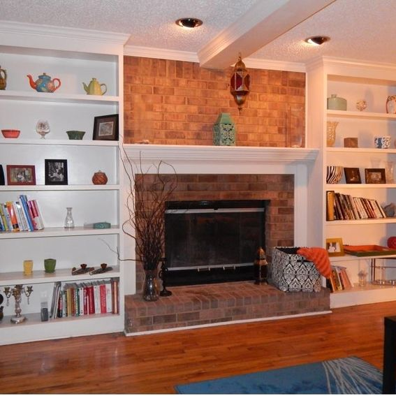 Lastest 2Perfection Decor Builtin Bookshelves To Flank Fireplace