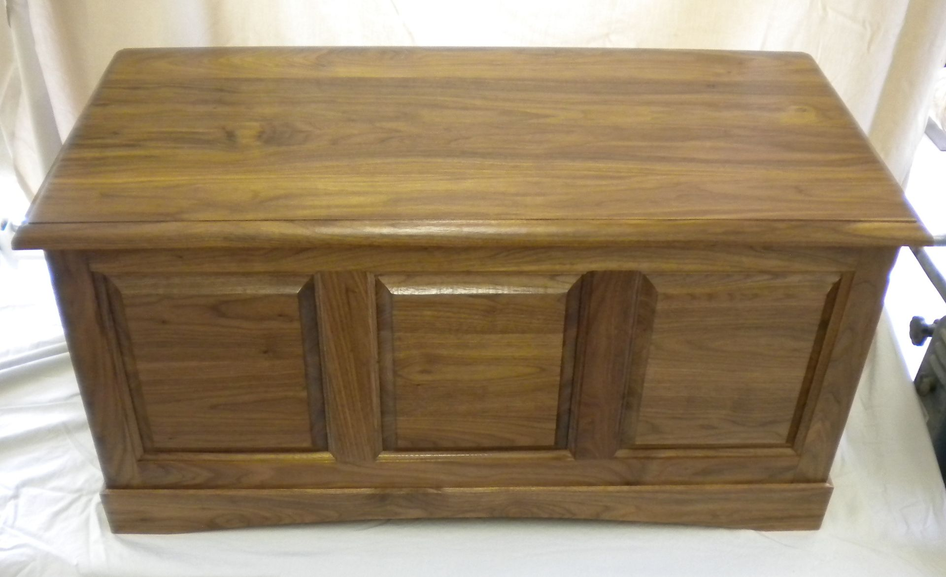 Hope Chests Wooden Handcrafted ~ Hand crafted walnut hope chest cedar lined by jdm
