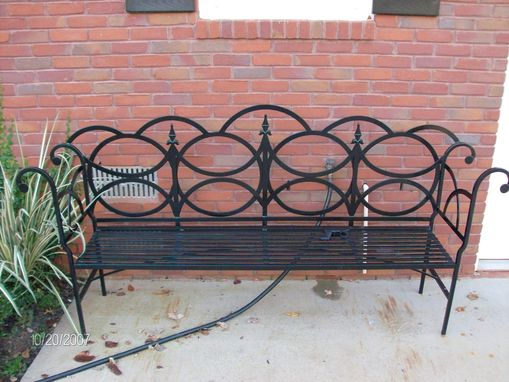 Custom Made Ornate Wrought Iron Bench