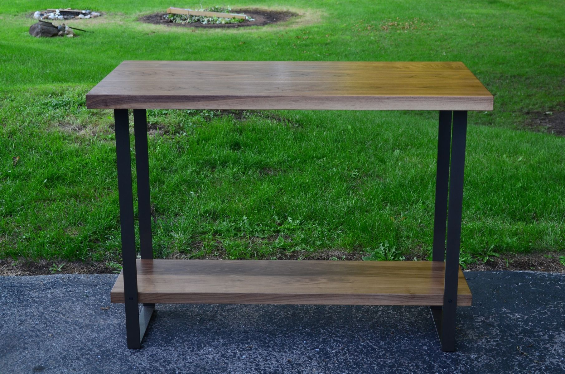 Counter Height Metal Table : Custom Made Walnut And Steel Counter Height Table by Fabitecture ...