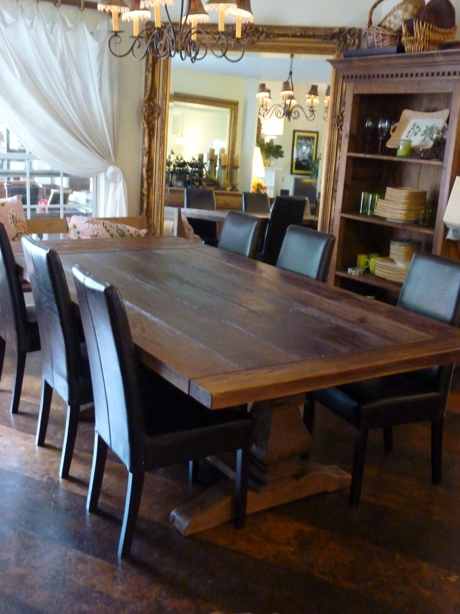 Dark Wood Finish Modern Dining Room W Optional Items: Hand Made Rustic Dining Table Made From Reclaimed Pine By