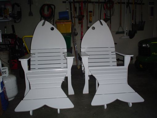 Custom Made Adirondack Fish Chairs