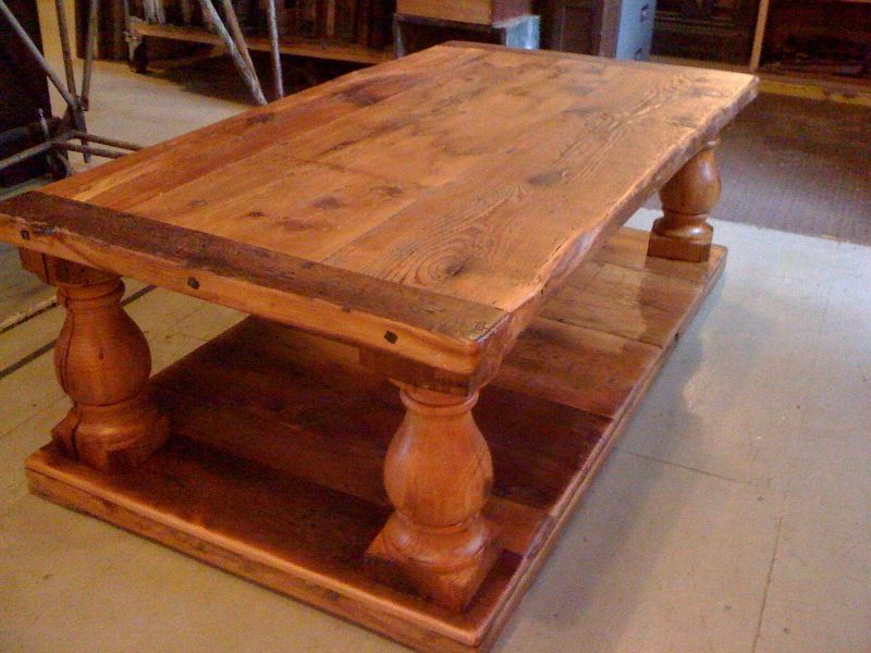 custom farmhouse style coffee table by old house parts co. Black Bedroom Furniture Sets. Home Design Ideas