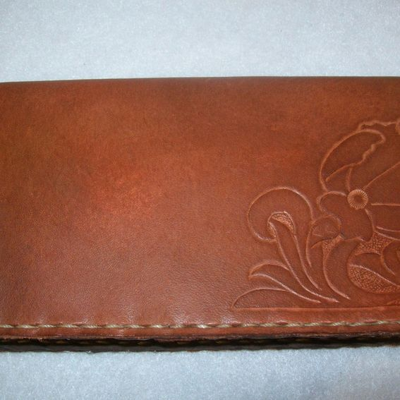 buy custom leather checkbook covers  made to order from