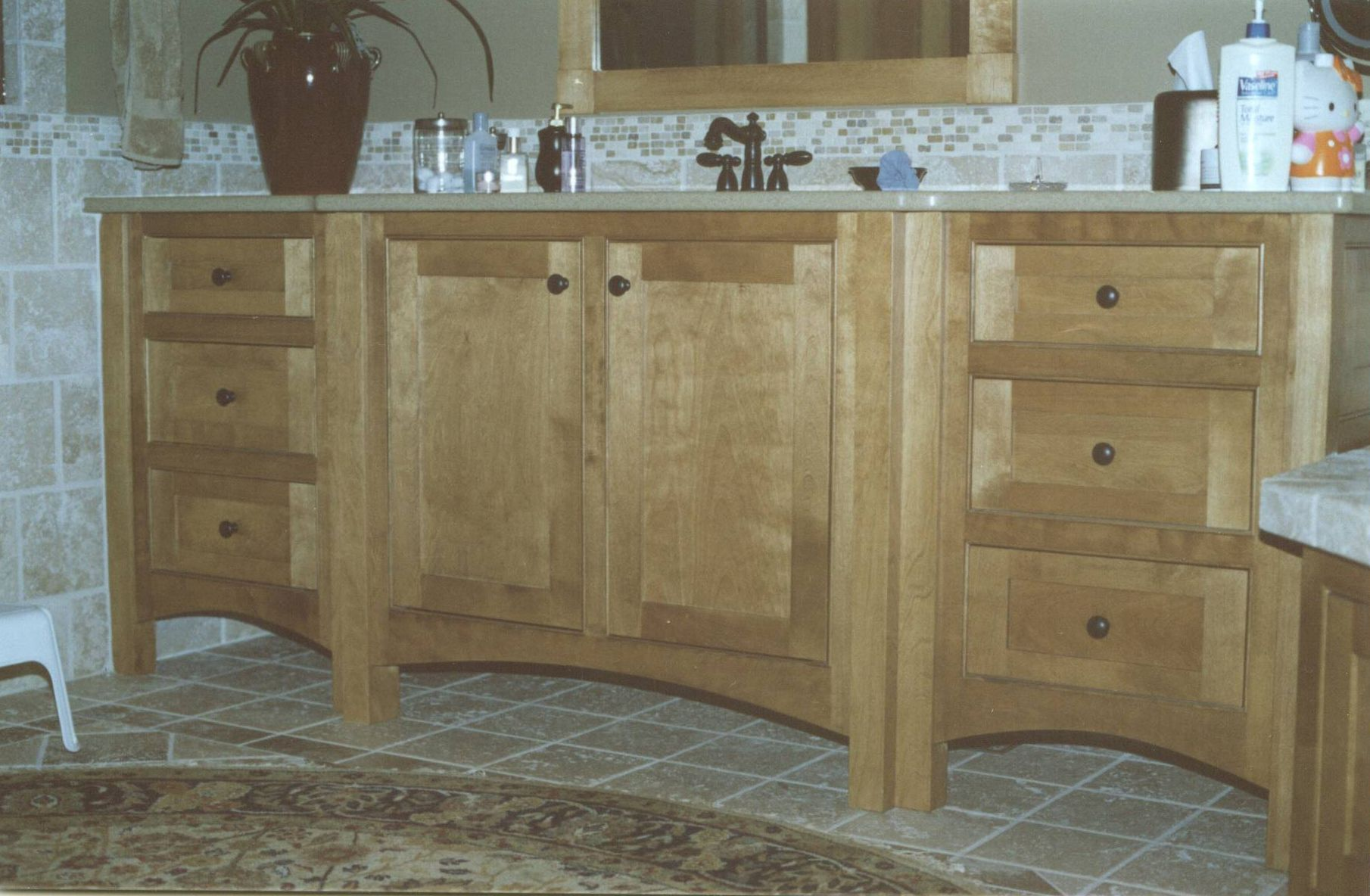 Handmade Custom Birch Vanity By T. Richard Woodworking Llc