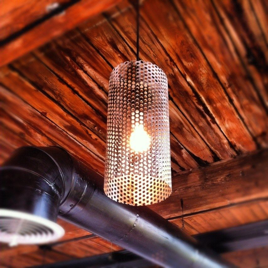 Hand Crafted Custom Perforated Metal Pendant Lights By