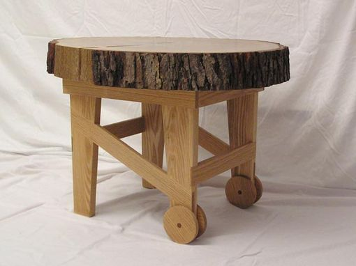 Custom Made Wheelbarrow Coffee Table