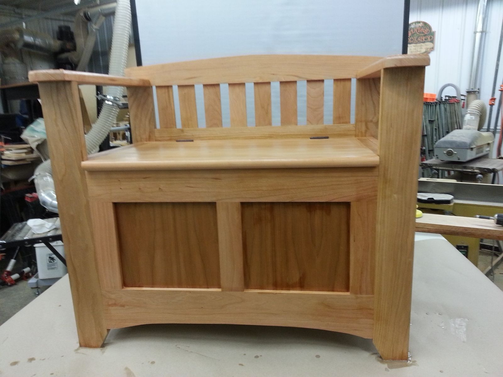 Hand Crafted Cherry Mud Room Bench By Windy Woods Custom Design