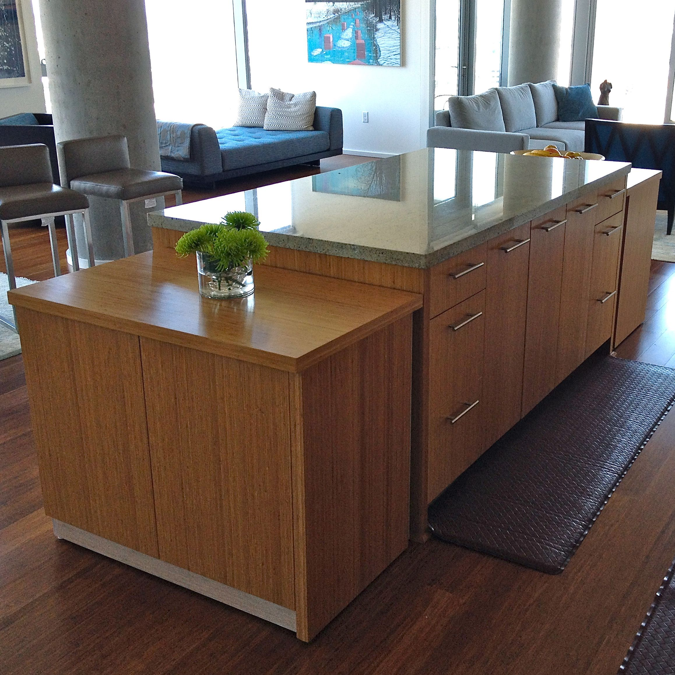 Custom Kitchen Island For Sale: Custom Modern Bamboo Cabinets By Philosophy With A Hammer