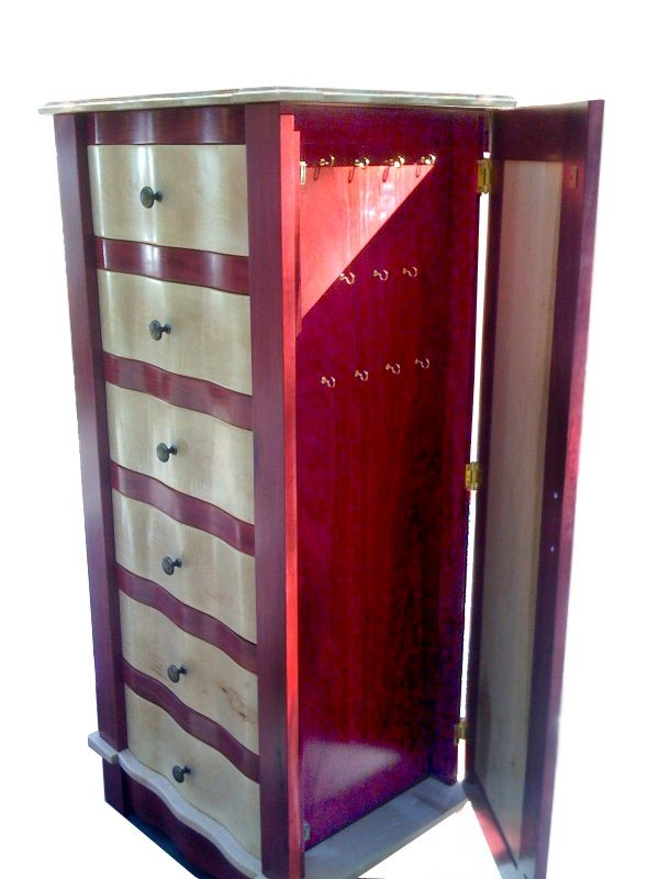 Hand Made Jewelry Armoire By Church Artisans Custommade Com