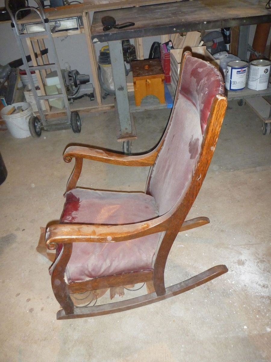 Custom Made Antique Oak Rocking Chair By Jp Design Build