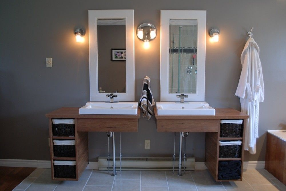 Handmade Custom Floating Bathroom Vanities by Clark Wood Creations