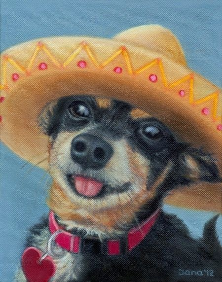 Hand Crafted Mexican Dog Magnet Chihuahua And Min Pin