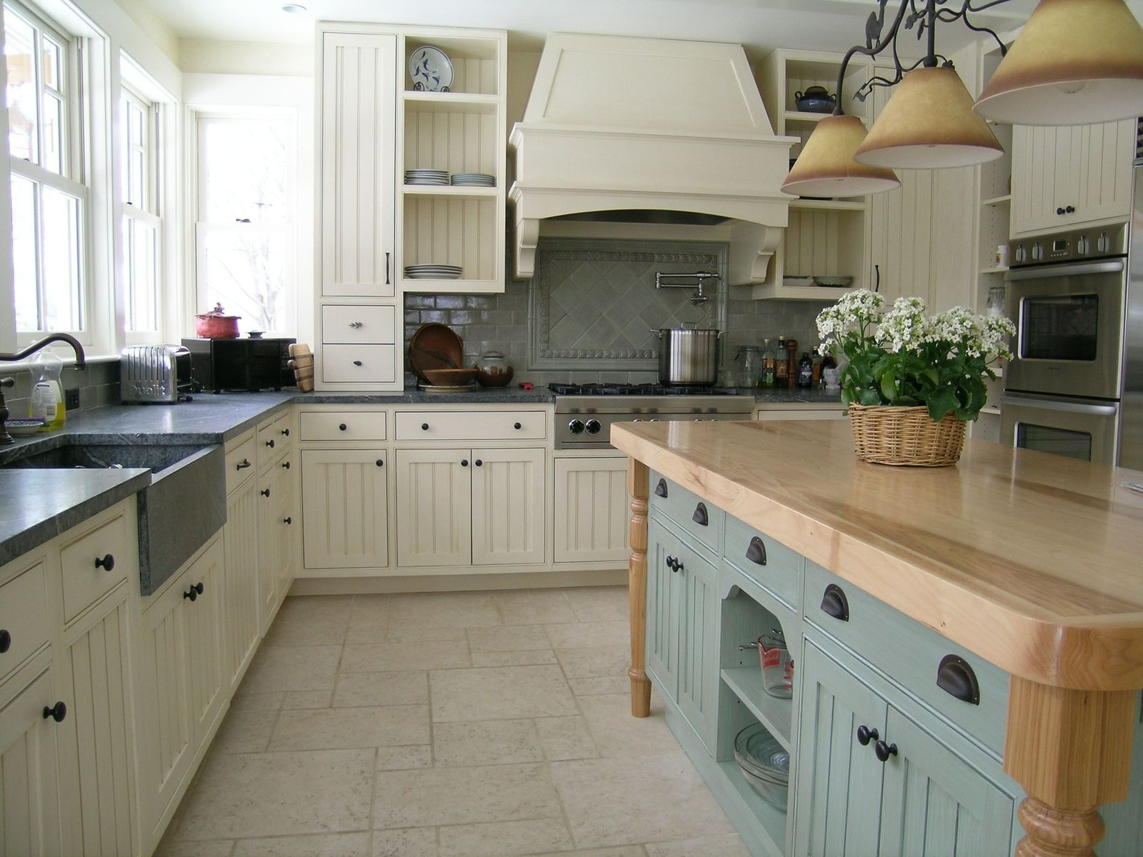 Hand Made Painted Kitchen By Michael Humphries Woodworking