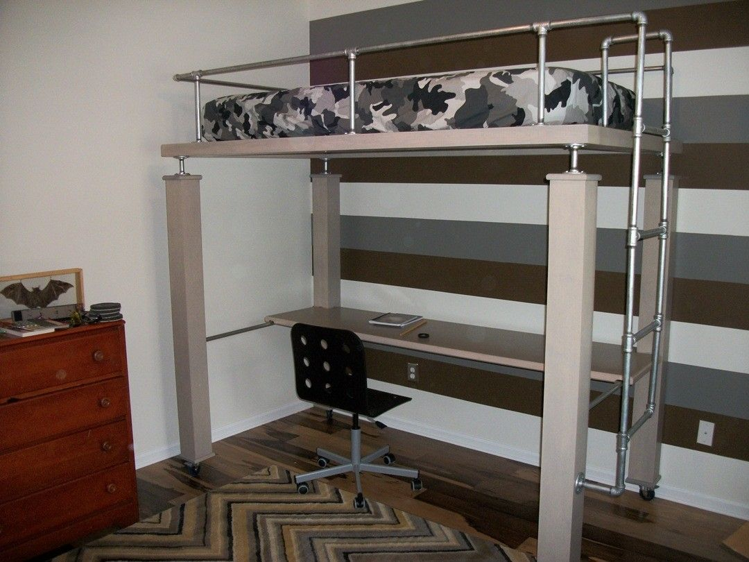 Hand Crafted Bed And Desk By Borders Woodworks