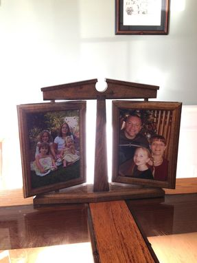 Custom Made Revolving Picture Frames With Stand