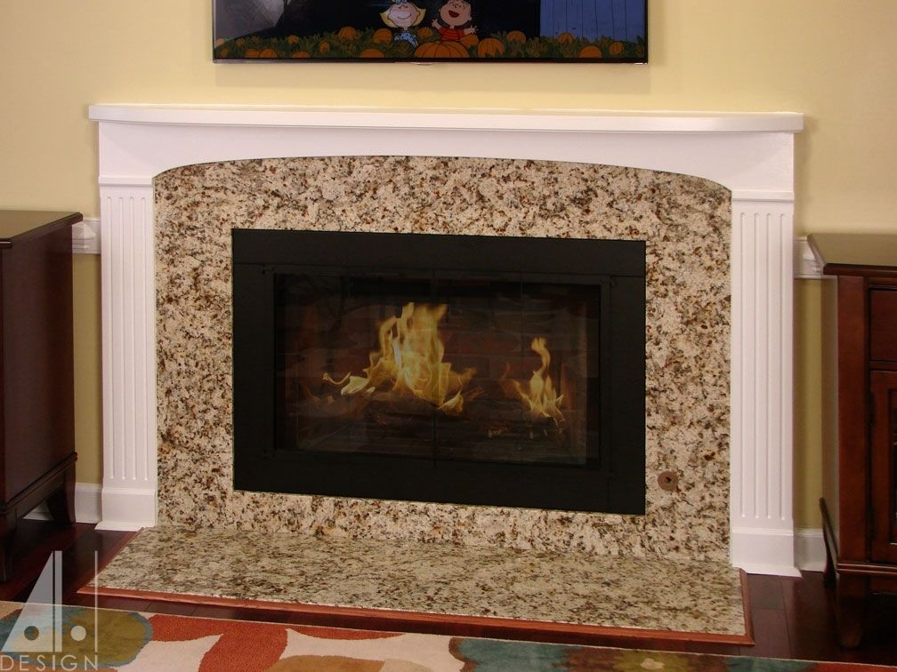 Custom Painted Fireplace Mantel By Alan Harp Design