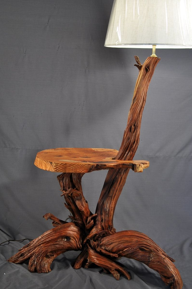driftwood of unique floor lamp and
