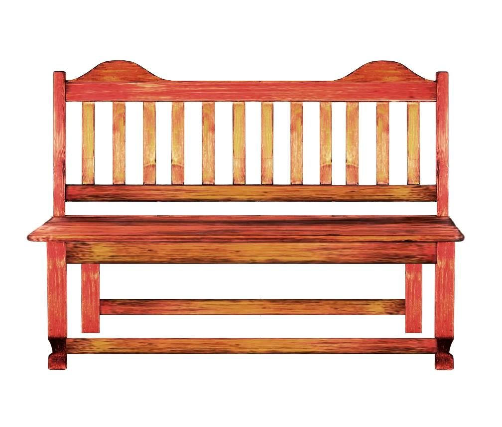 Rustic Ranch Furniture: Custom Made Rustic Ranch Style Bench