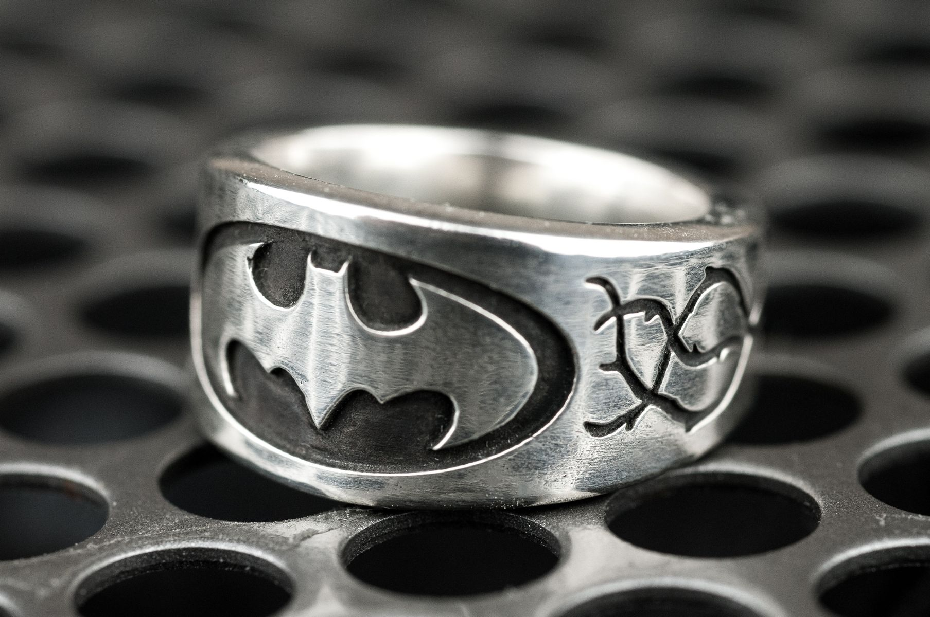 Tire Wedding Rings >> Hand Made Batman Vine Engagement Ring by Rock My World ...