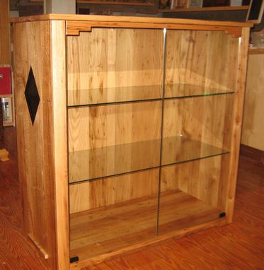 Custom Made Wormy Chestnut Display Cabinet