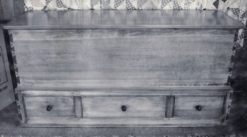 Custom Made Pine Blanket Chest With Drawers