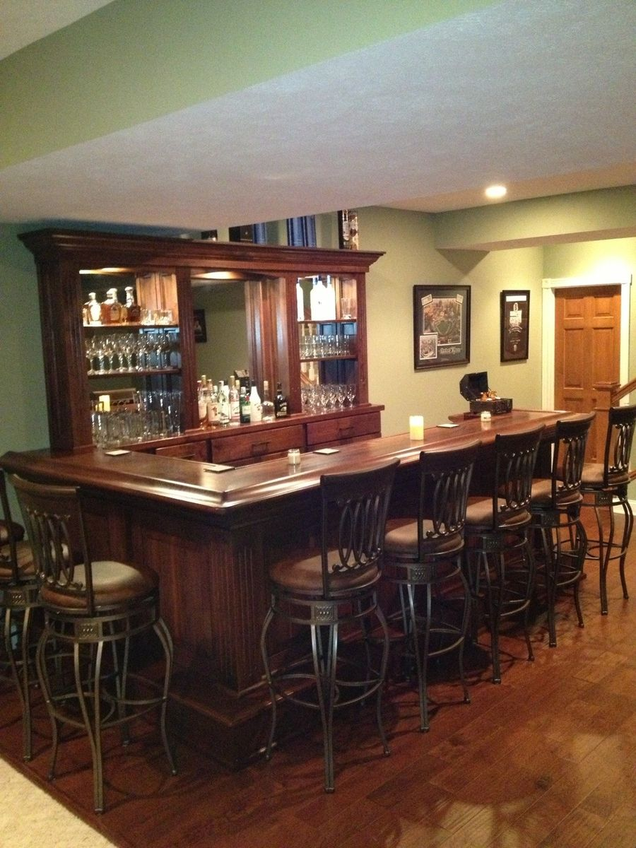 Hand crafted black walnut home bar by jeremy belanger woodworking - Bars for the house ...