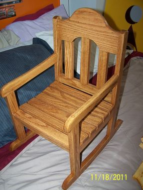 Custom Made Red Oak Rocking Chair