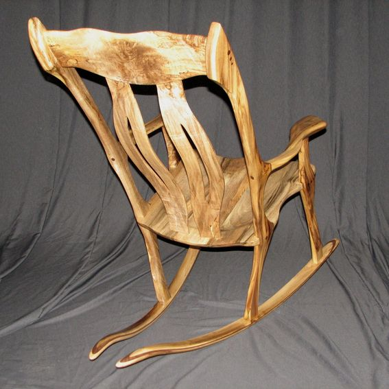 hand crafted exotic rocking chairs by bearkat wood