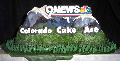 Custom Made Colorado Mountain For 9news Art Cake