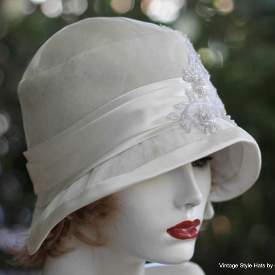 Buy Hand Made 1920s Great Gatsby Wedding Party Cloche Hat