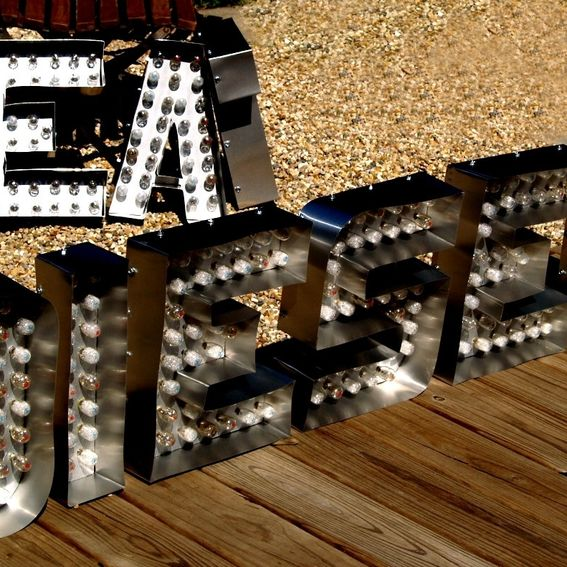 hand made movie theater marquee letter light channel any