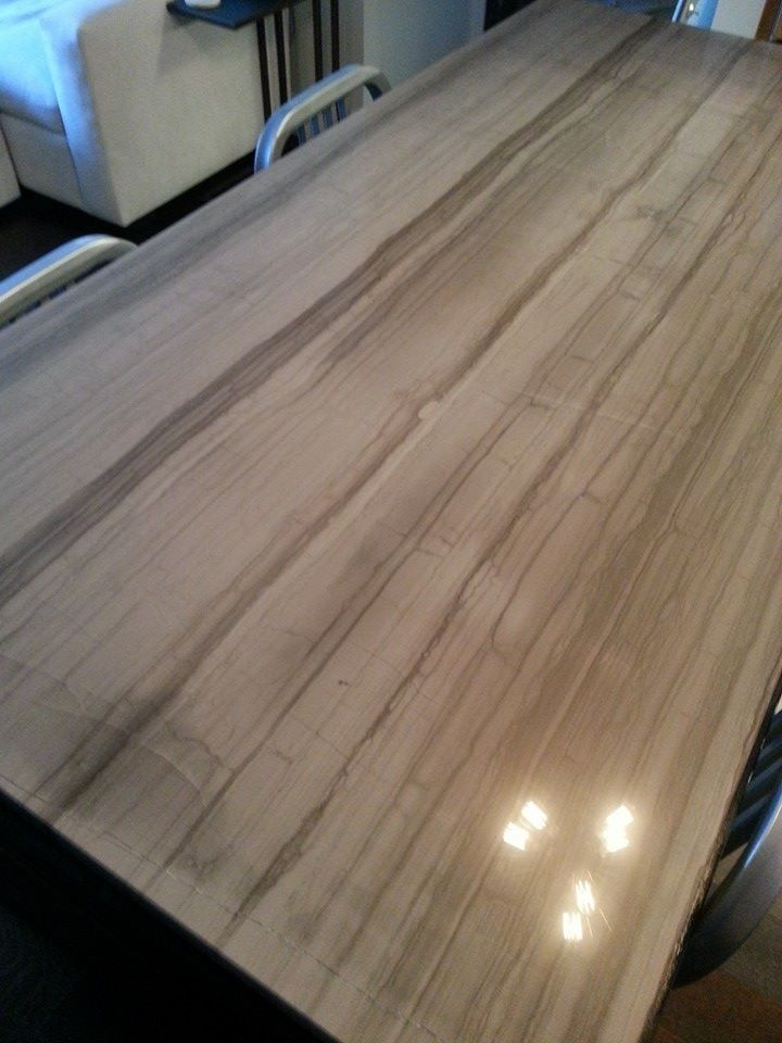 Hand Made Modern Marble Kitchen Island High Top Dining