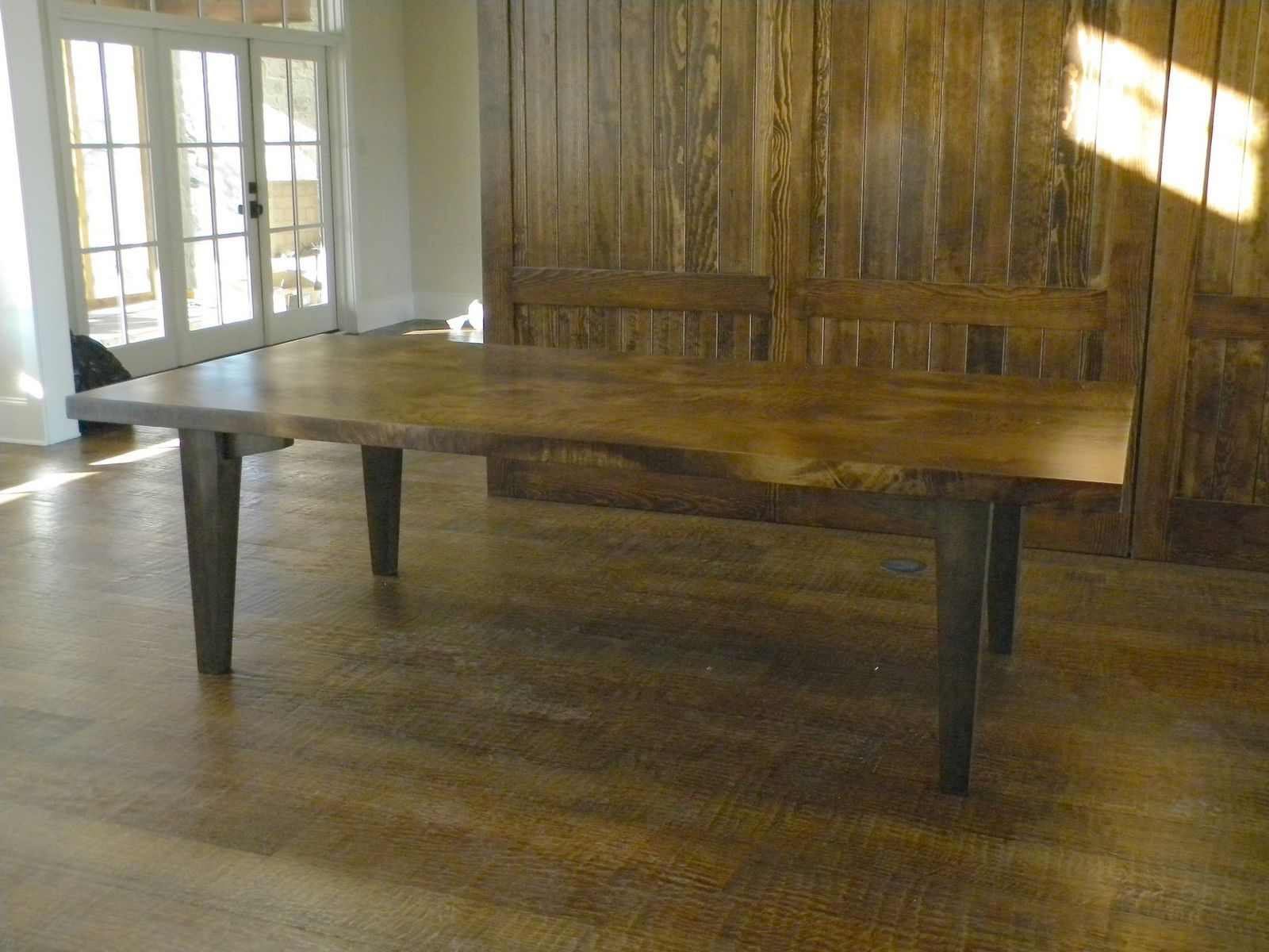 Hand Made Large Slab Dining Table by North Texas Wood ...