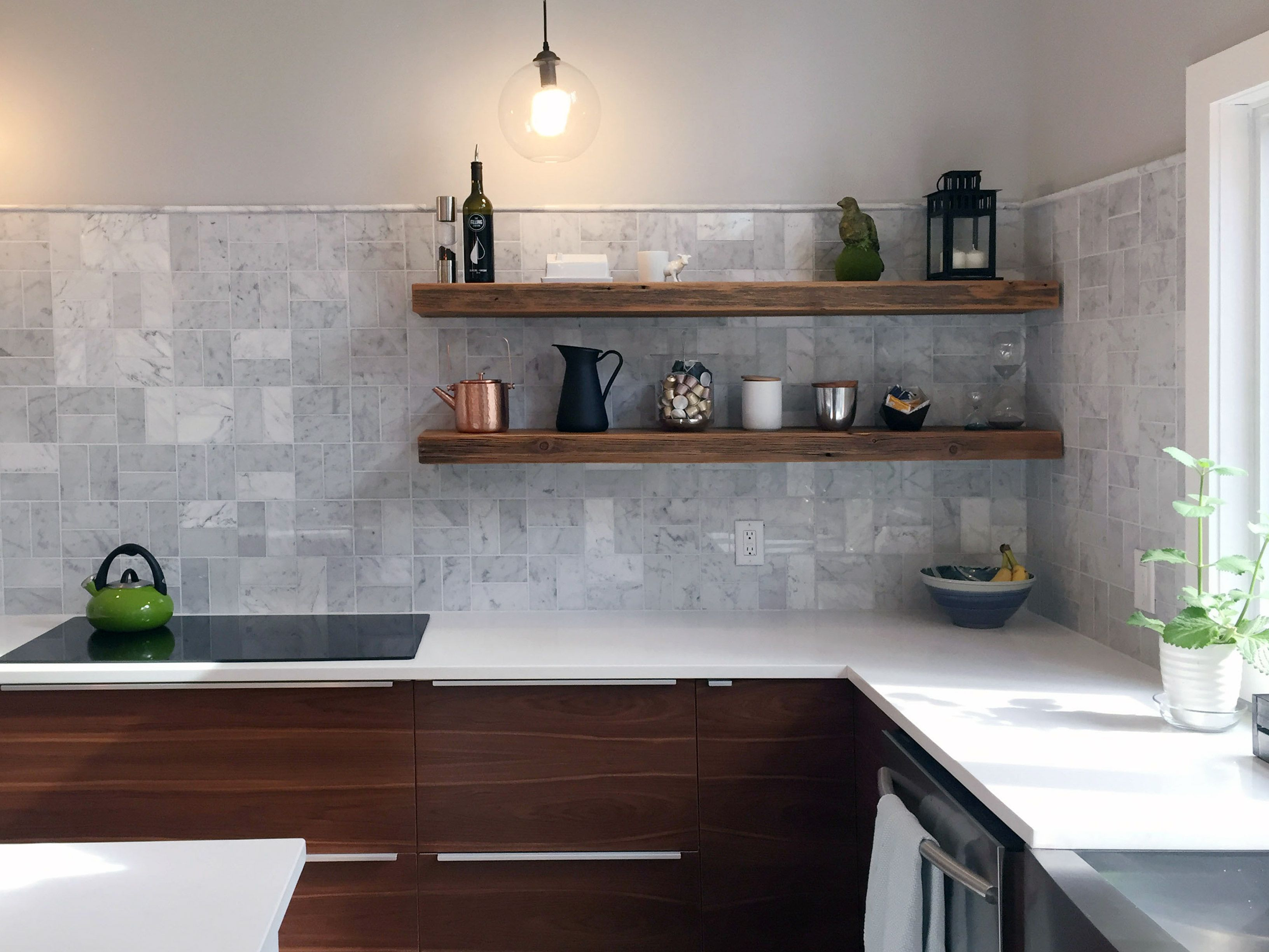 Open Kitchen Shelving And The Flexibility That Comes With It: Hand Made Rustic Floating Shelves By Abodeacious