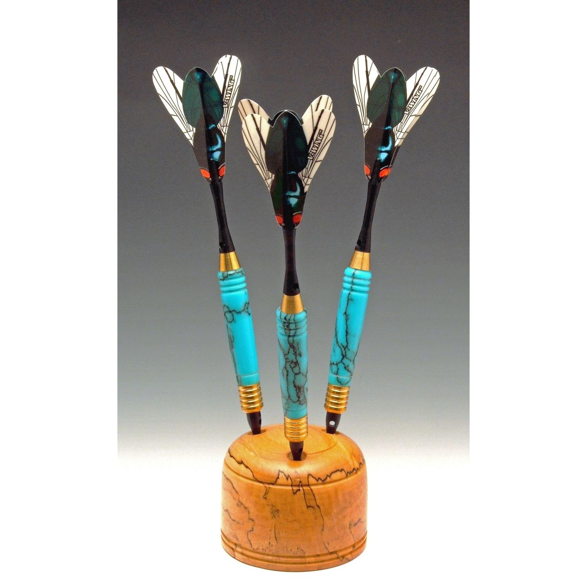 American Made Bedroom Furniture Hand Crafted Turquoise Dart Set By John M Russell