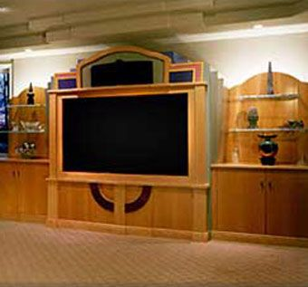 Custom Made Audio-Visual Center