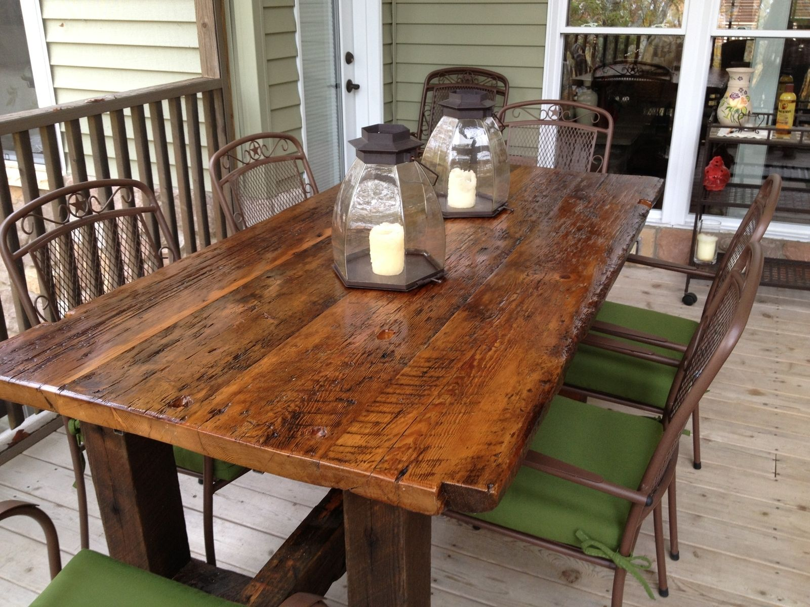Hand Made Reclaimed Trestle Table By Elias Woodworking