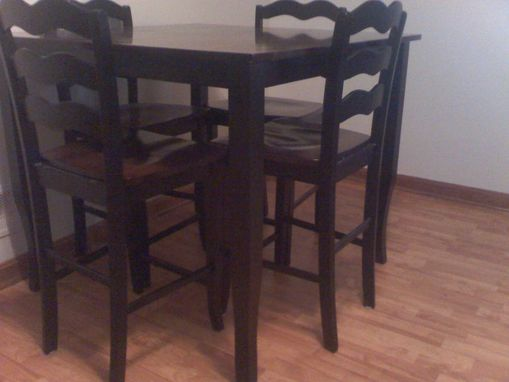 Custom Made Oak Table And Chairs