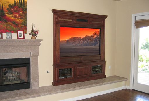 Custom Made Built-In Fireplace Entertainment Center