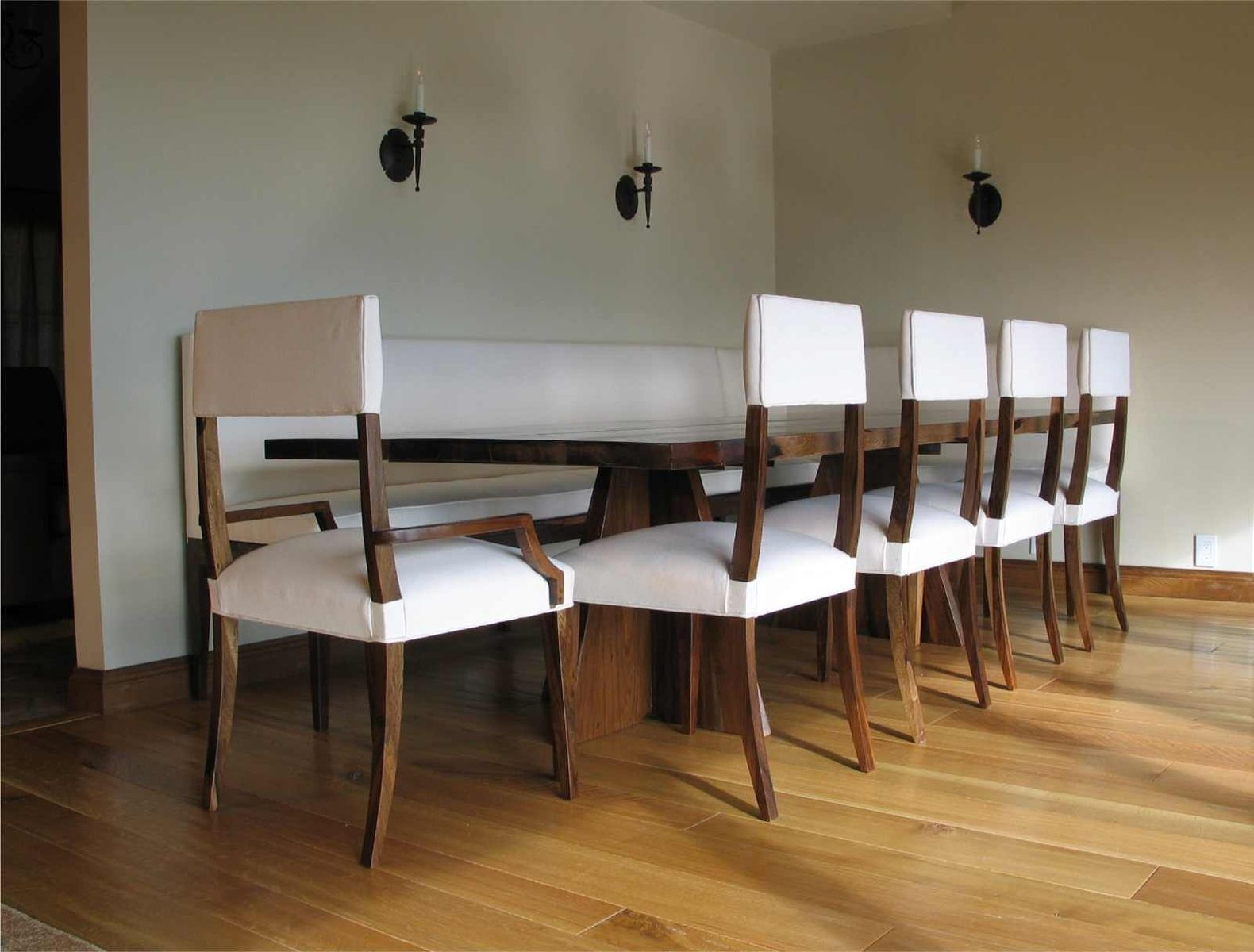 custom made luca dining set with banquette by costantini