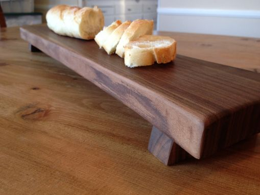 Custom Made Baguette Footed Bread Board - Walnut