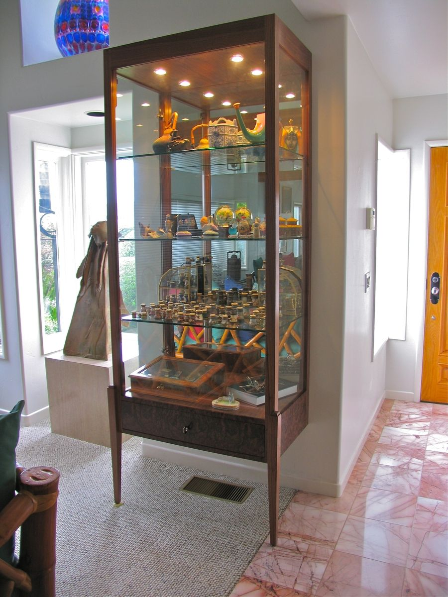 Hand made custom display cabinet by del cover woodworking - Custom display cabinets ...