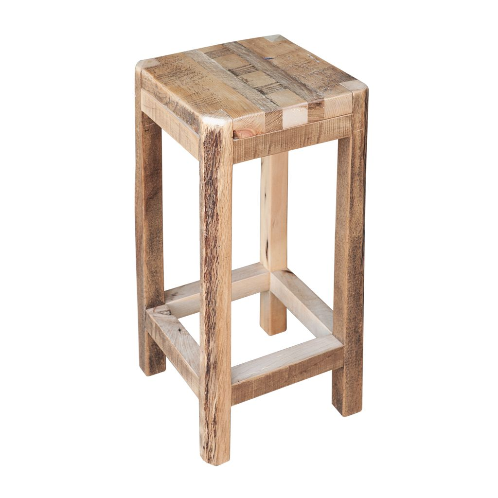 Bar Custom Wood And Woods: Buy A Custom Made Reclaimed Barn Wood Stool, Made To Order