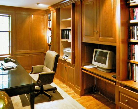 Custom Made Large Paneled Office In Cherry