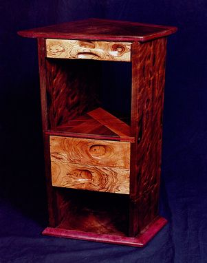 Custom Made Trapazoidal Nightstand