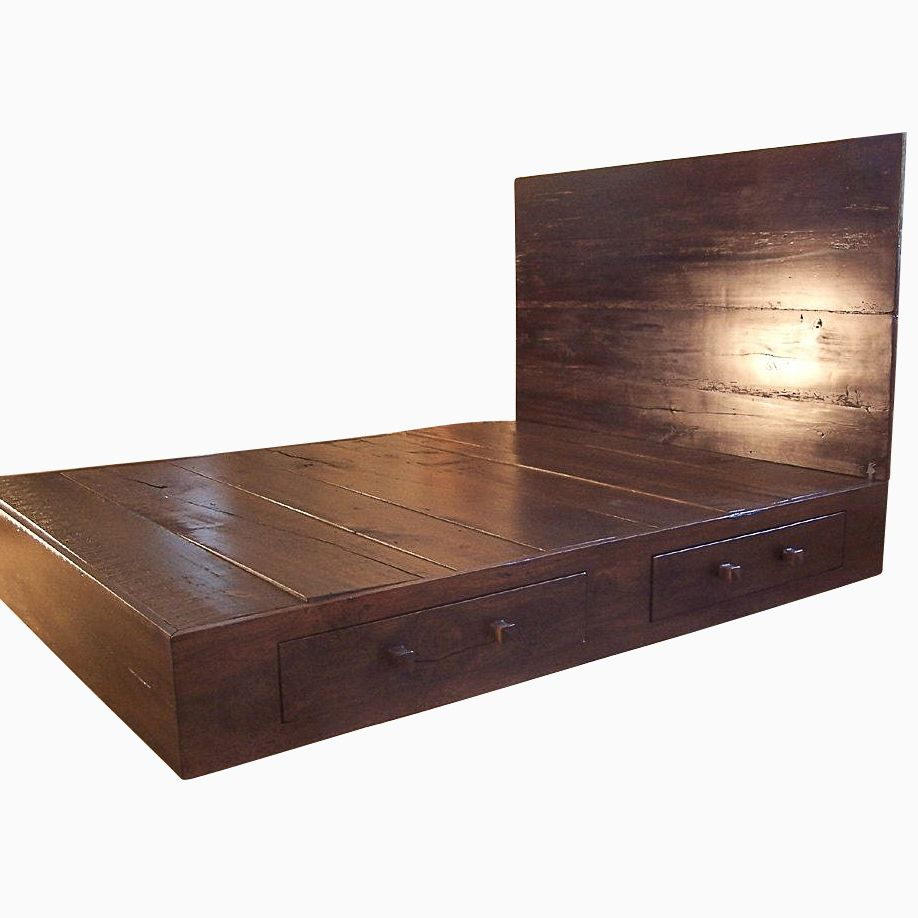 Buy a Hand Made Reclaimed Wood Platform Bed, made to order ...