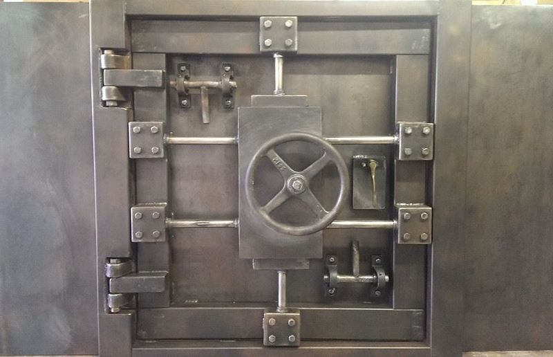 Buy A Hand Made Vintage Vault Door And Wall Custom Made
