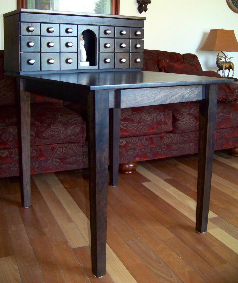 hand made desk with drawers for craft table by palmer union design. Black Bedroom Furniture Sets. Home Design Ideas