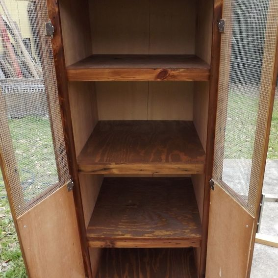 Hand Crafted Rustic Linen Pantry Cabinet By Rustic Ridge